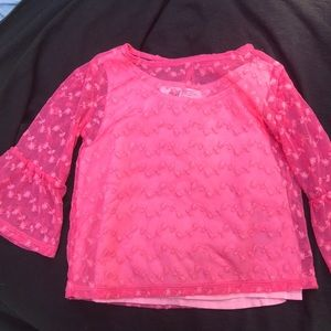 Pink 3/4 sleeve top, toddler